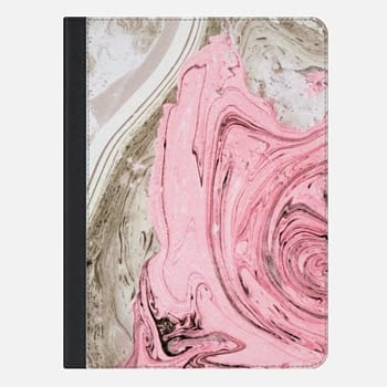iPad Air 2 ケース Nude+ Pink Marbling Art iPad Case