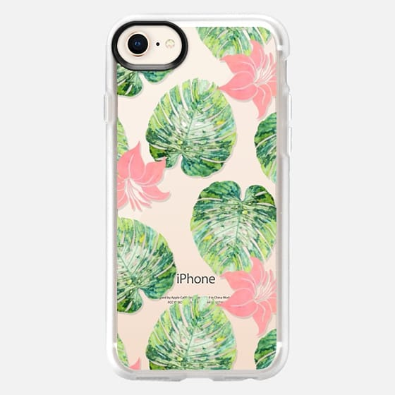 Monstera + Pink Phone Case - Snap Case