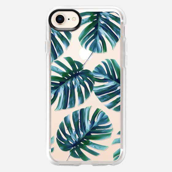 Monstera Pattern #casetify iPhone & iPod Case - Snap Case