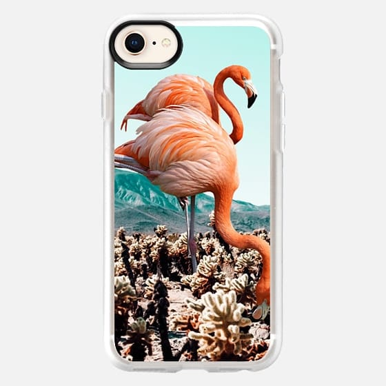 Flamingos In The Desert iPhone and iPod Case - Snap Case