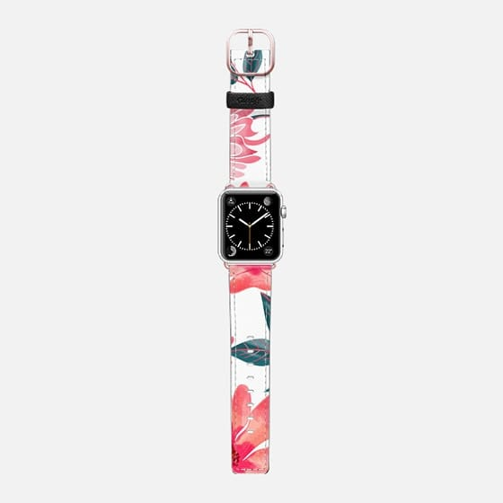 Yours Florally Watch Band - Saffiano Leather Watch Band