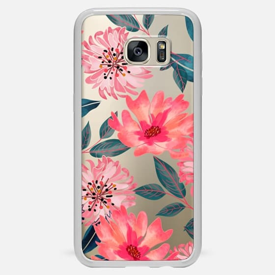 Yours Florally Phone Clear Case - Classic Snap Case
