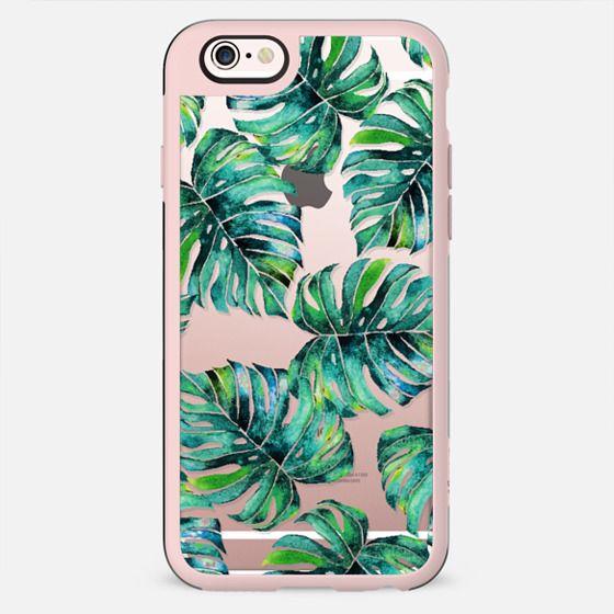Monstera + Pastel Pink iPhone & iPod Case