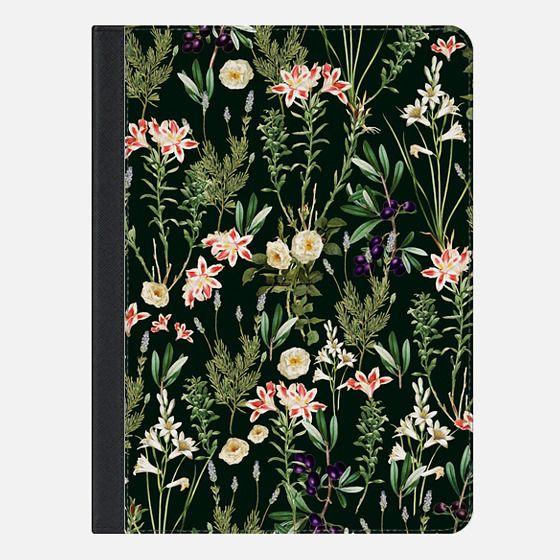 Dark Botanical Garden iPad Case