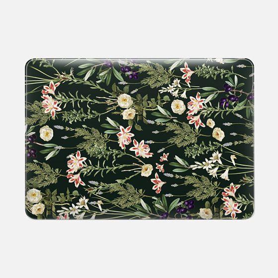 Dark Botanical Garden Macbook Pro - Macbook Snap Case