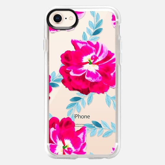 Fluorescent Florals iPhone & iPod Case - Snap Case