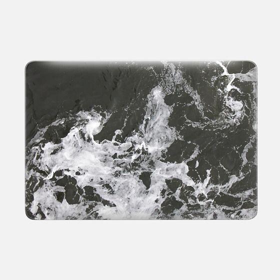 Black Water + Marble Macbook Case -