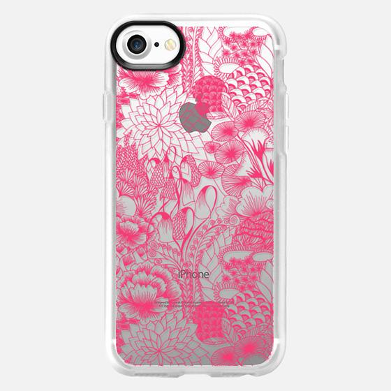 PINK Floral - Breast Cancer Awareness - Wallet Case