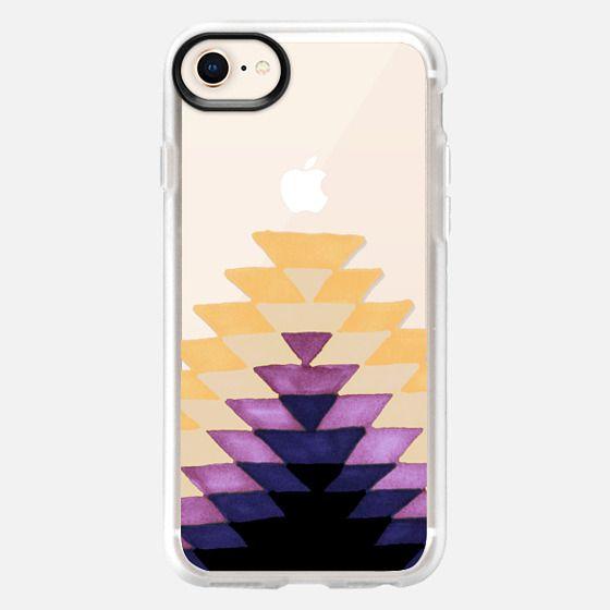 Tribal Sunrise - Amber-Plum - Snap Case