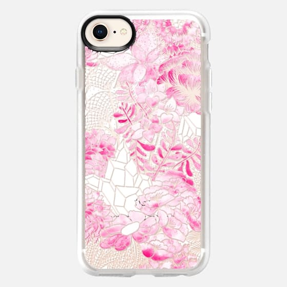 PINK Watercolor Bouquet - Breast Cancer Awareness - Snap Case