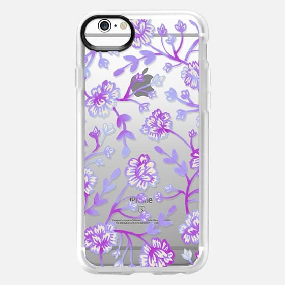 Watercolor Peonies - Peach Violet - Classic Grip Case