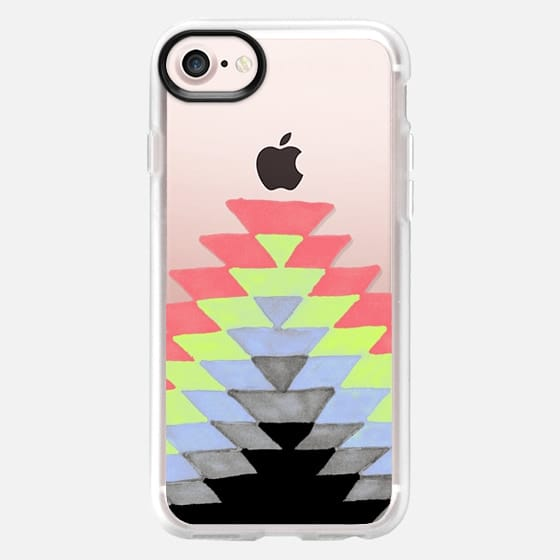 Tribal Sunrise - Periwinkle-Lime - Classic Grip Case