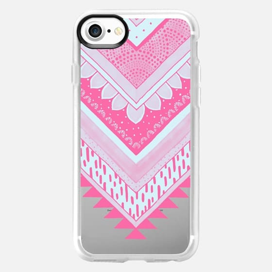 PINK Tribal Chevron - Breast Cancer Awareness - Classic Snap - Classic Grip Case