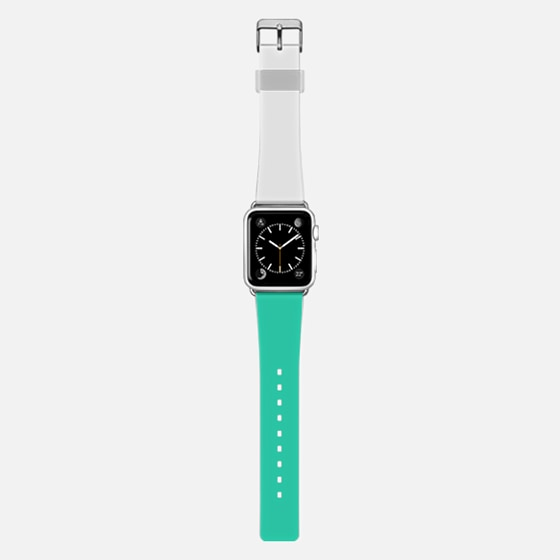 White and flashy green apple watch band -