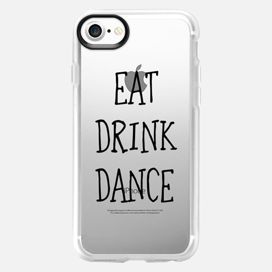 Eat drink dance black - wedding - Wallet Case
