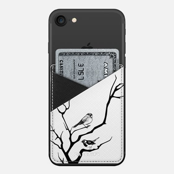 Birds - Saffiano Leather Phone Wallet