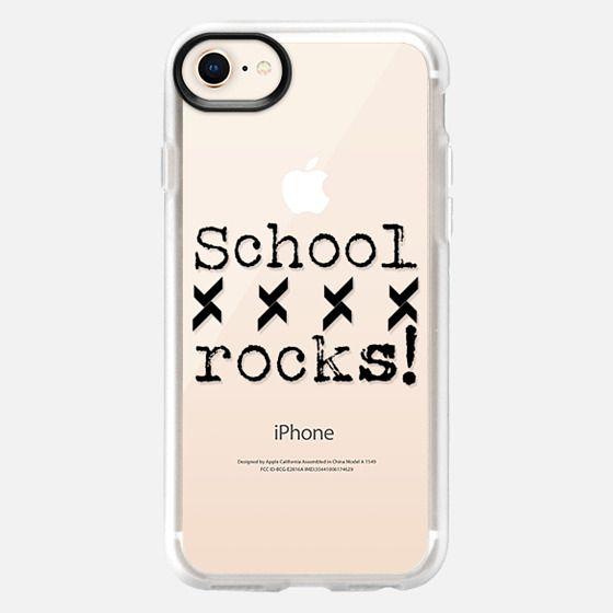 School Rocks in BW - Back to school - Snap Case