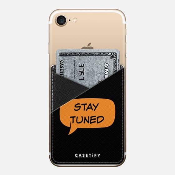 Stay tuned leather pocket - Saffiano Leather Phone Wallet