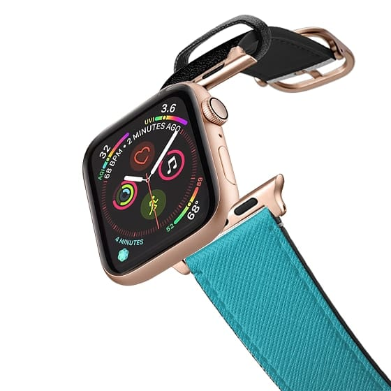 Apple Watch 42mm Bands - Black and turquoise apple watch band