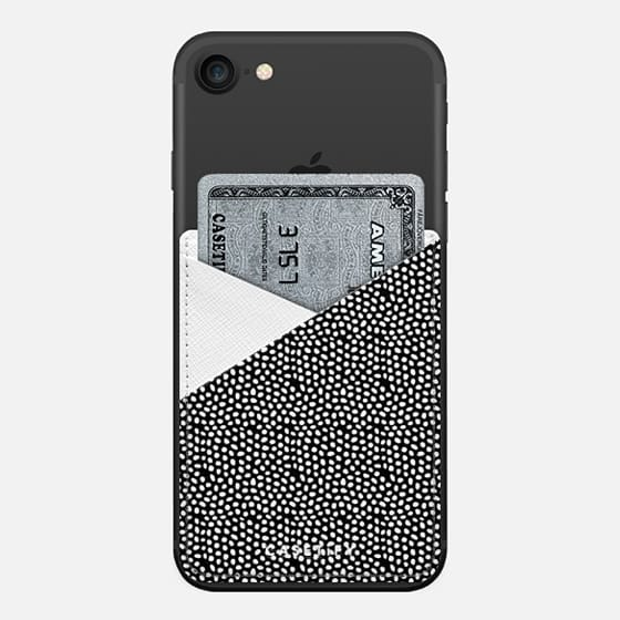 Black&White Leather pocket - Saffiano Leather Phone Wallet