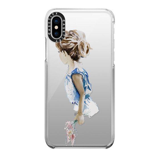 iPhone X Cases - Flower Girl