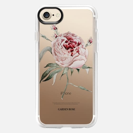 garden rose watercolor - Snap Case