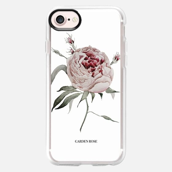 garden rose - white - Snap Case