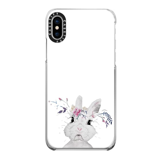 iPhone X Cases - funny bunny