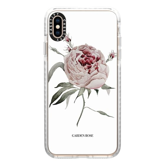 iPhone XS Max Cases - garden rose - white