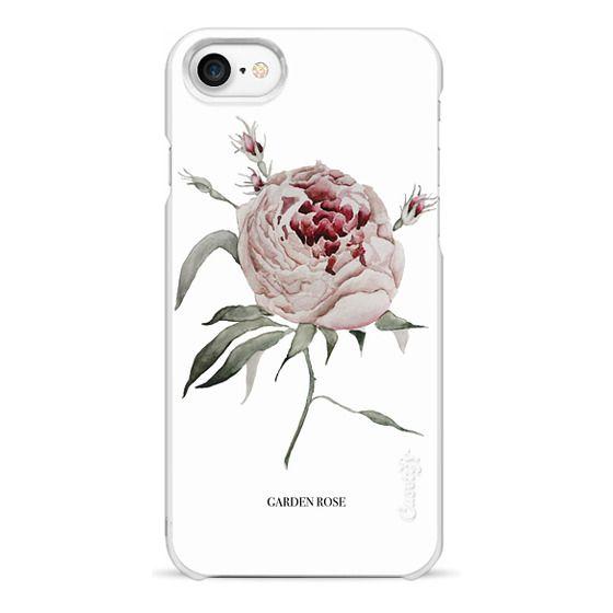 iPhone 7 Cases - garden rose - white