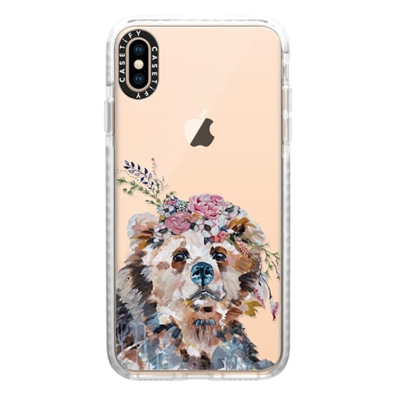 iPhone XS Max Cases - bear in bloom