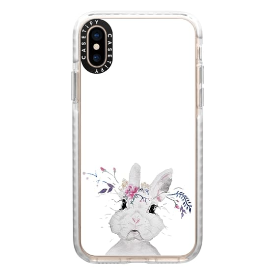 iPhone XS Cases - funny bunny