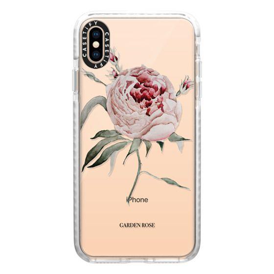 iPhone XS Max Cases - garden rose watercolor