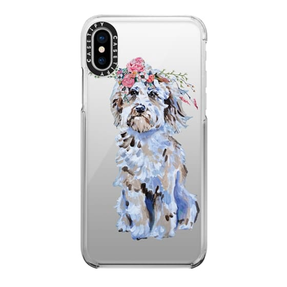 iPhone X Cases - Cosmo The Wonder Dog in Bloom