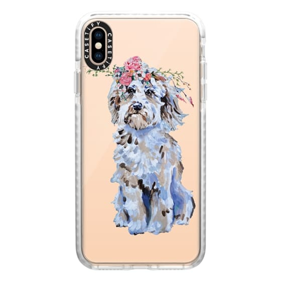 iPhone XS Max Cases - Cosmo The Wonder Dog in Bloom