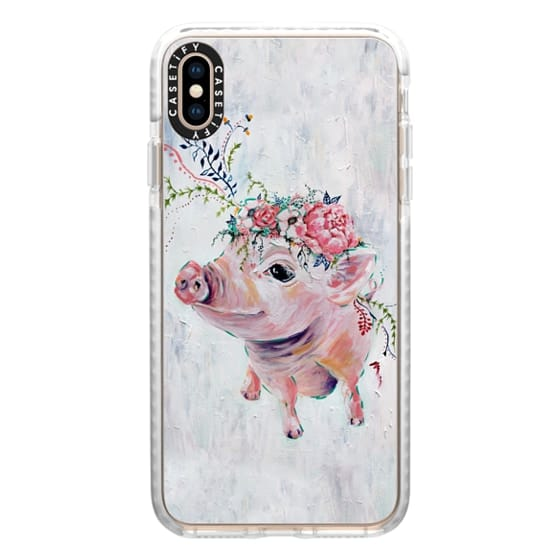 iPhone XS Max Cases - Pearl the Pig - Full Image