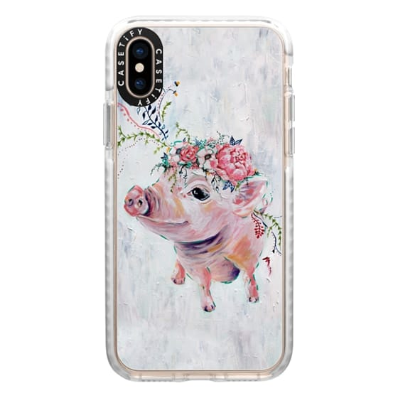 iPhone XS Cases - Pearl the Pig - Full Image