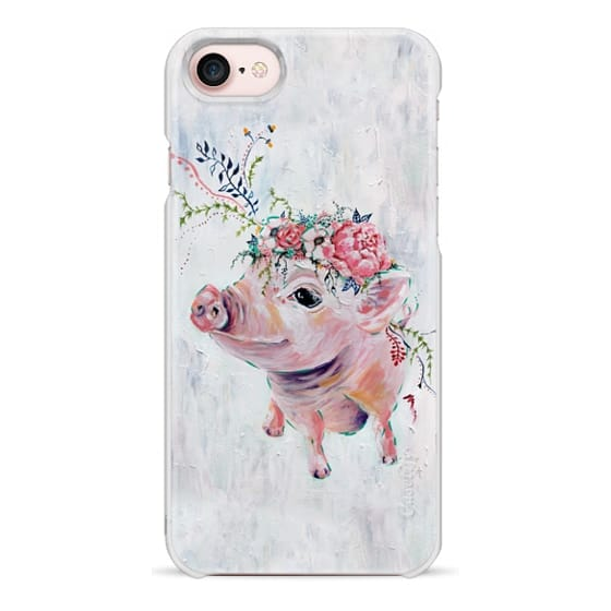 iPhone 7 Cases - Pearl the Pig - Full Image