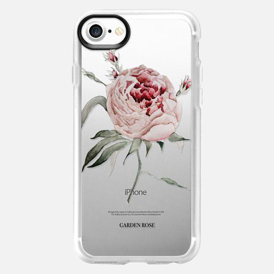 garden rose watercolor - Snap Case