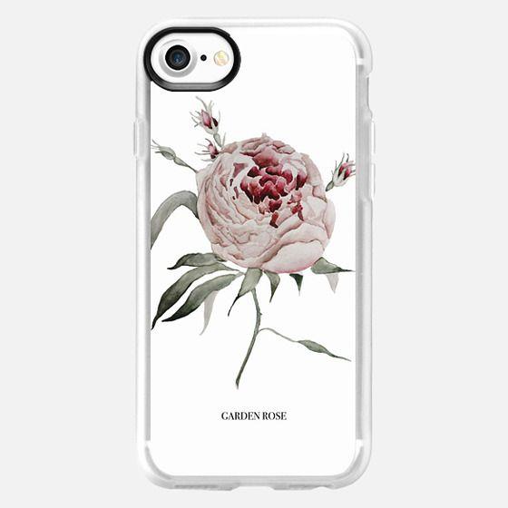 garden rose - white - Snap Case
