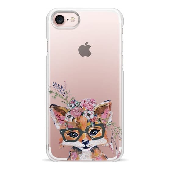 iPhone 7 Cases - Hipster Fox in Bloom