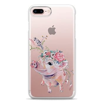Snap iPhone 7 Plus Case - Pearl the Pig - Live Sweet Series