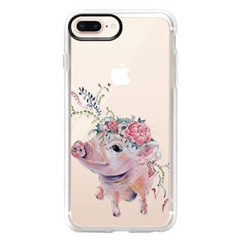 Grip iPhone 8 Plus Case - Pearl the Pig - Live Sweet Series