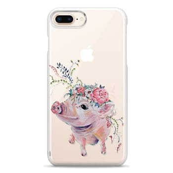 Snap iPhone 8 Plus Case - Pearl the Pig - Live Sweet Series