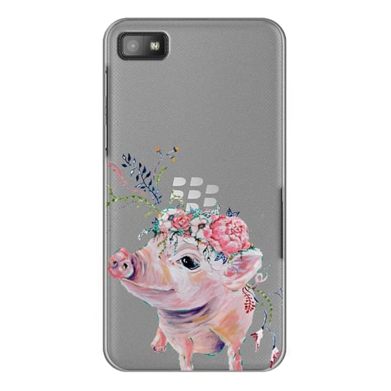Blackberry Z10 Cases - Pearl the Pig - Live Sweet Series