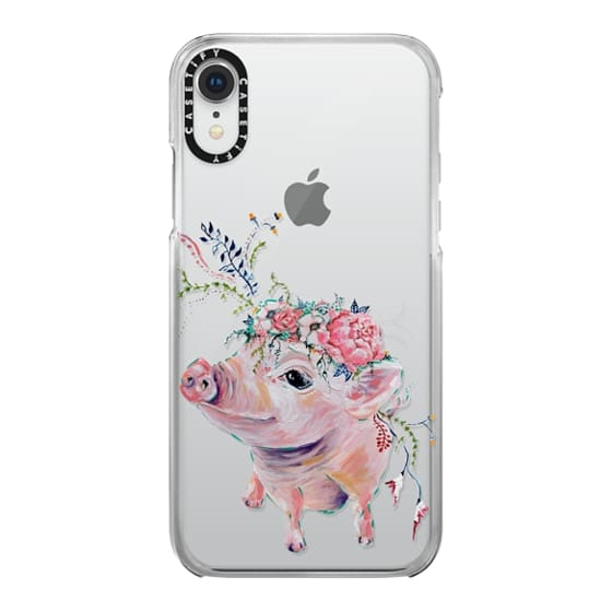 iPhone XR Cases - Pearl the Pig - Live Sweet Series