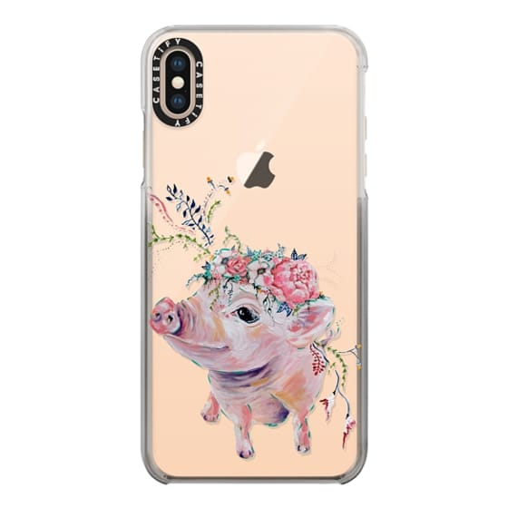 iPhone XS Max Cases - Pearl the Pig - Live Sweet Series