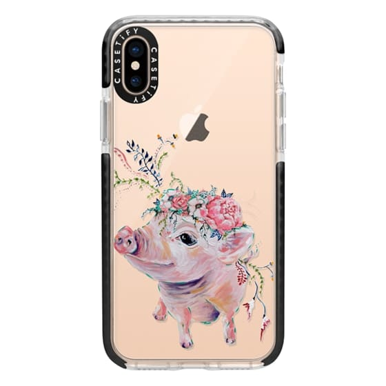 iPhone XS Cases - Pearl the Pig - Live Sweet Series