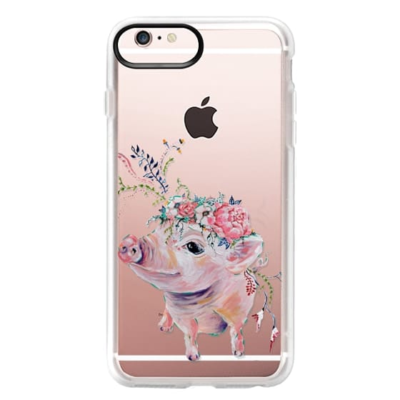 iPhone 6s Plus Cases - Pearl the Pig - Live Sweet Series