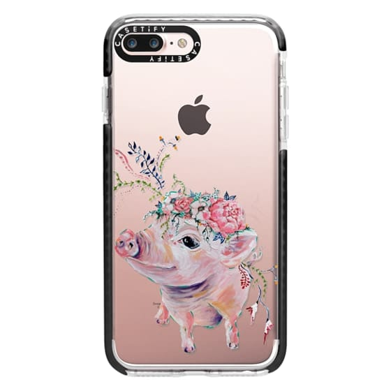iPhone 7 Plus Cases - Pearl the Pig - Live Sweet Series